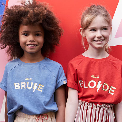 "Blune Paris ""Mini Brune"" Shirt Fille Stone (T-shirt)-2"