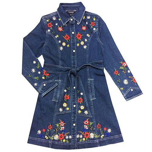 Blu & Blue New York Rachel Embroidery Denim Dress (Jurk)-1