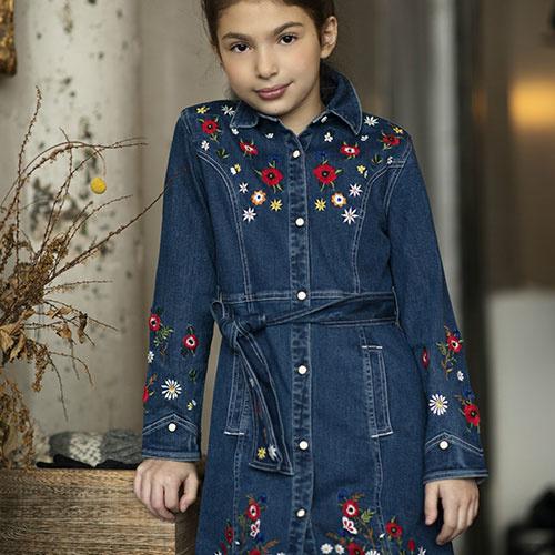 Blu & Blue New York Rachel Embroidery Denim Dress (Jurk)-2