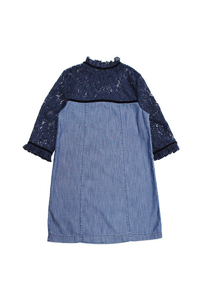 Blu & Blue New York Gigi Denim with Lace Dress (Jurk)