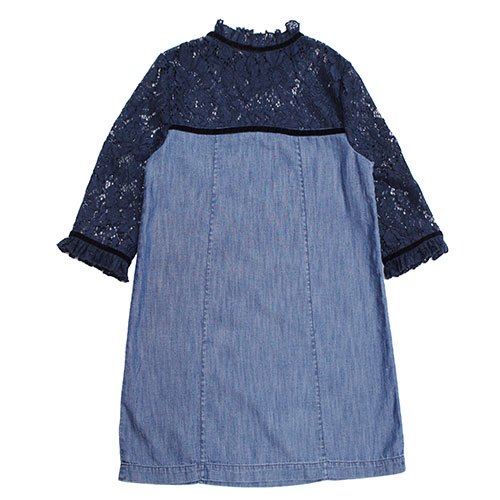 Blu & Blue New York Gigi Denim with Lace Dress (Jurk)-1
