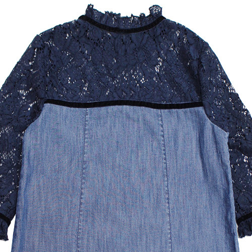Blu & Blue New York Gigi Denim with Lace Dress (Jurk)-2