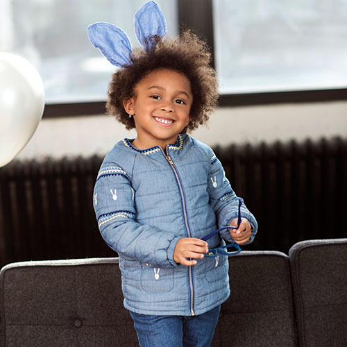 Blu & Blue New York Bunny Quilted Jacket (Jas)-2