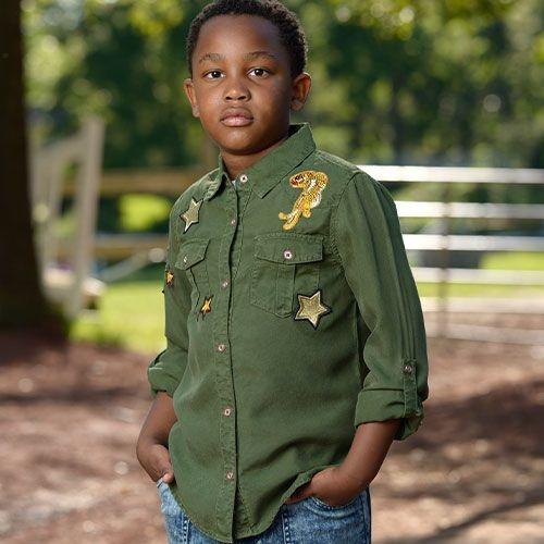 Blu & Blue New York Aiden Shirt Military Green (Blouse)-7