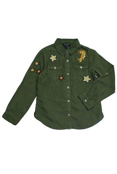 Blu & Blue New York Aiden Shirt Military Green (Blouse)