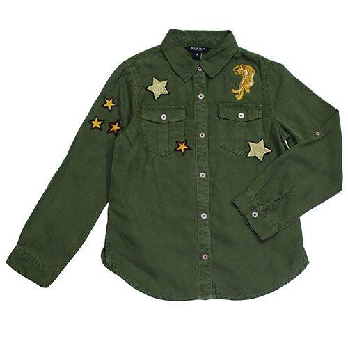 Blu & Blue New York Aiden Shirt Military Green (Blouse)-1