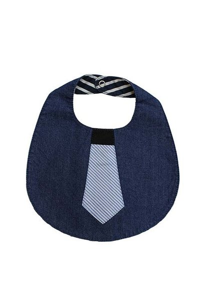 Blu & Blue New York Tie Bib (Slab)