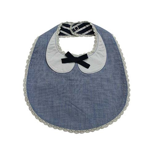 Blu & Blue New York Peter Pan Collar Bib with Bow (Slab)-1