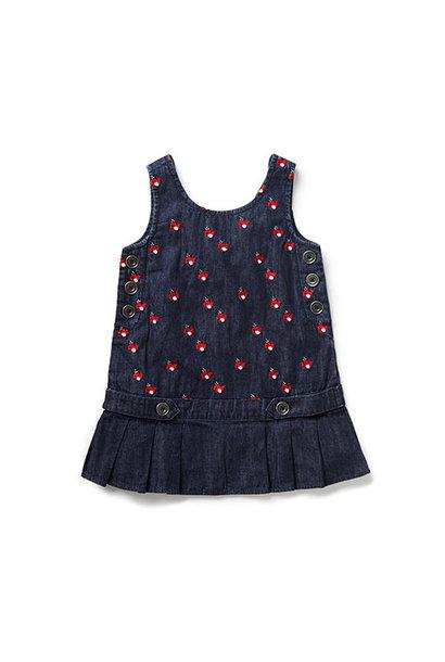 Blu & Blue New York Cute Whale Embroidery Denim Dress (Jurk)
