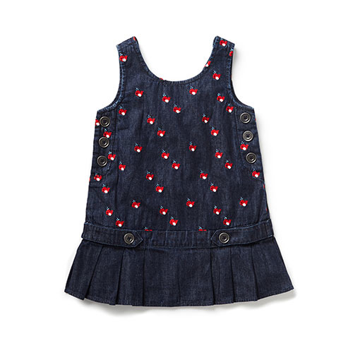 Blu & Blue New York Cute Whale Embroidery Denim Dress (Jurk)-1