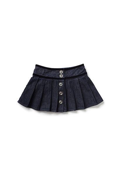 Blu & Blue New York Caitlyn Pleated Denim Skirt (Rok)