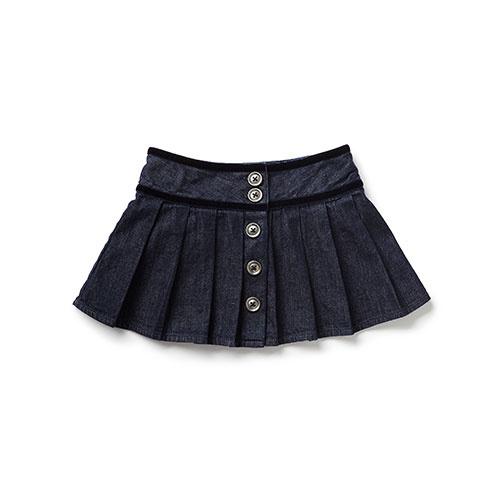 Blu & Blue New York Caitlyn Pleated Denim Skirt (Rok)-1