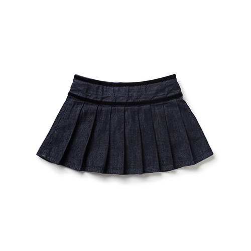Blu & Blue New York Caitlyn Pleated Denim Skirt (Rok)-3