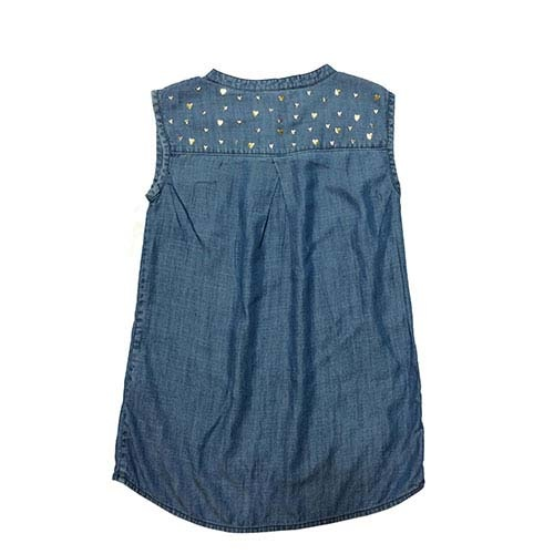 Blu & Blue New York Gold Heart Denim Top (Shirt)-3