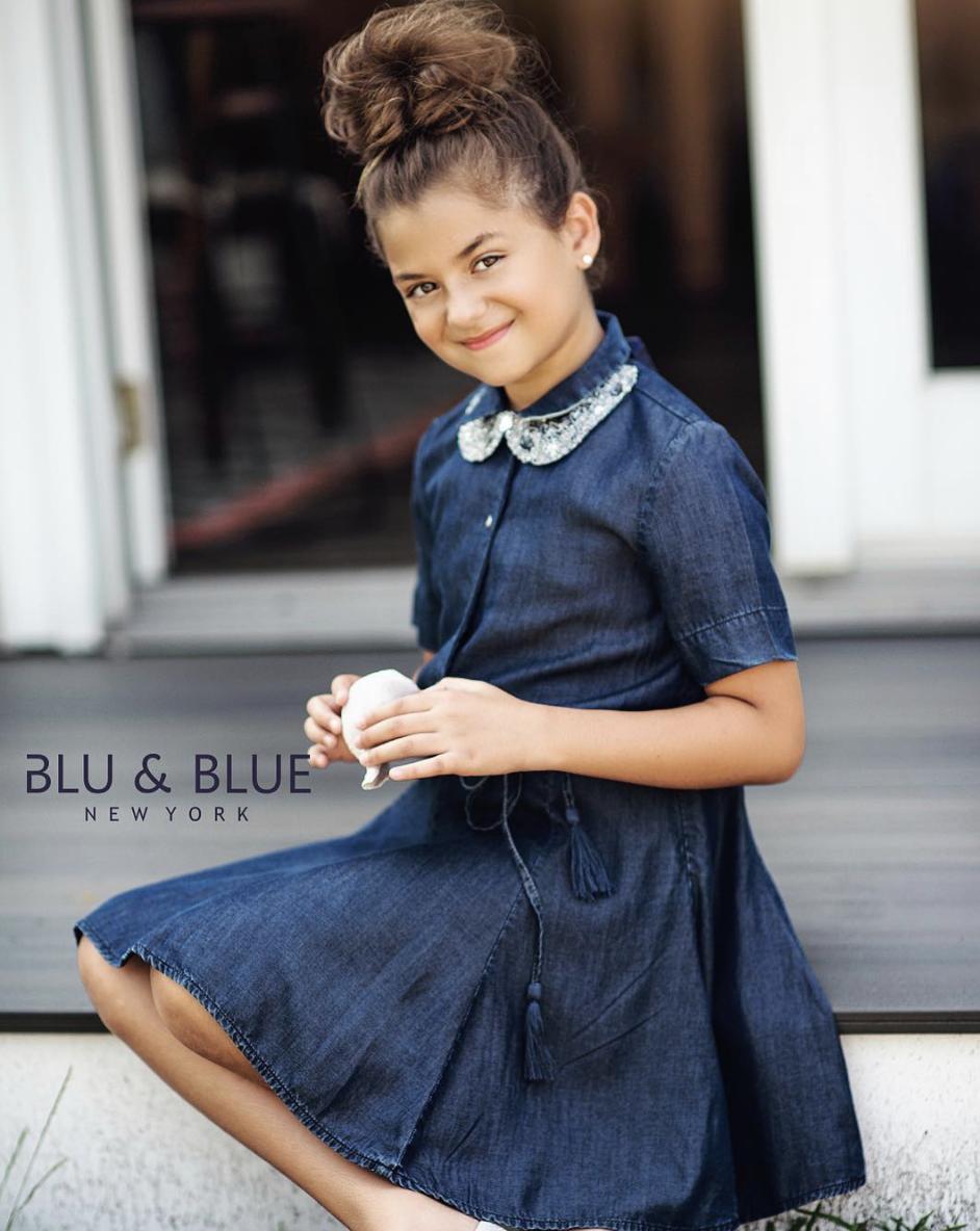 Blu & Blue New York Katie Fit and Flare Denim Dress (Jurk)-2