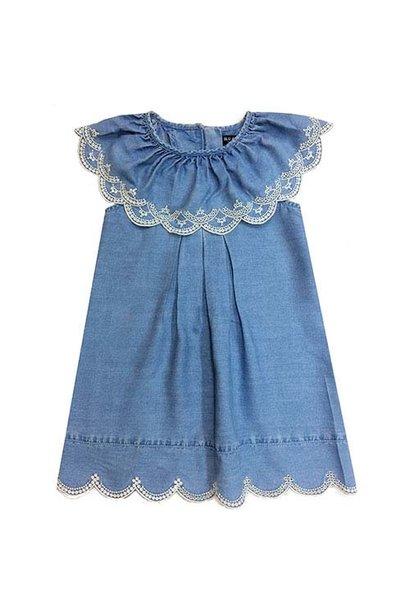 Blu & Blue New York Nina Ruffle Denim Dress (Jurk)