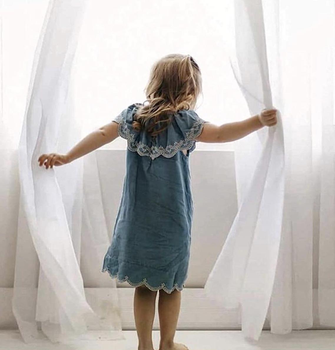 Blu & Blue New York Nina Ruffle Denim Dress (Jurk)-2