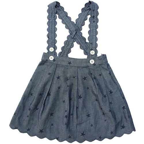 Blu & Blue New York Scallop Star Skirt (Rok)-1