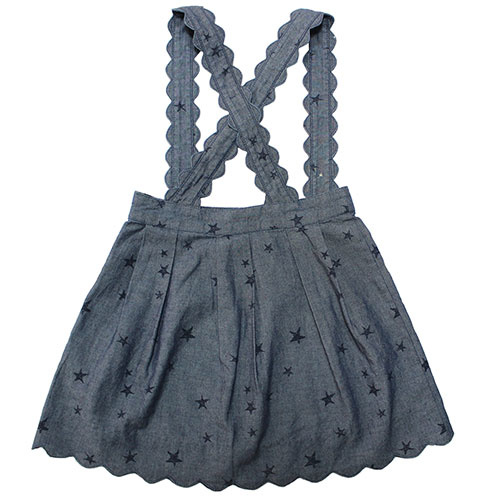 Blu & Blue New York Scallop Star Skirt (Rok)-3