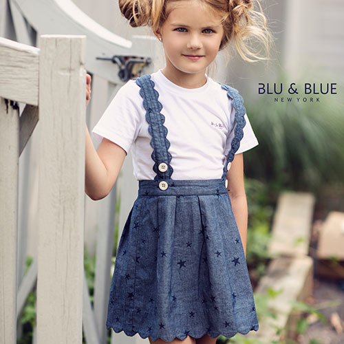 Blu & Blue New York Scallop Star Skirt (Rok)-2