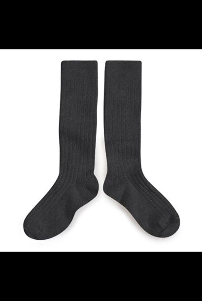 Collegien Chaussettes hautes 'Poivre' (kniekousen) donker grijs