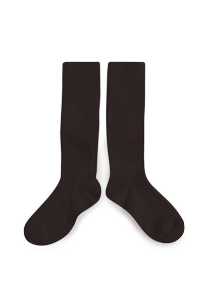 Collegien Chaussettes hautes 'Grain de Café' (kniekousen) donker bruin