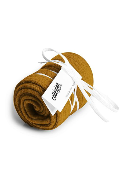 Collegien Chaussettes hautes 'Moutarde de Dijon' (kniekousen) mosterd geel