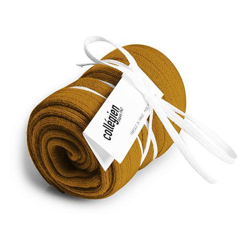 Collegien Chaussettes hautes 'Moutarde de Dijon' (kniekousen) mosterd geel-2