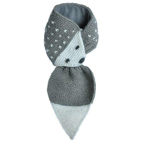 Hats Over Heels Hedgehog Scarf Grey (Sjaal)-1