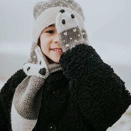 Hats Over Heels Hedgehog Scarf Grey (Sjaal)-3