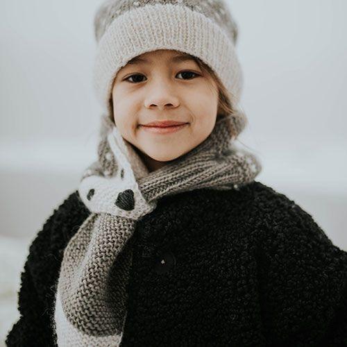 Hats Over Heels Hedgehog Scarf Grey (Sjaal)-4