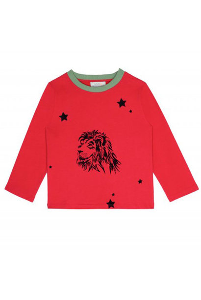 Wild & Gorgeous Lion Tee Red Longsleeve (T-shirt)
