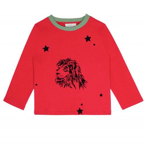 Wild & Gorgeous Lion Tee Red Longsleeve (T-shirt)-1