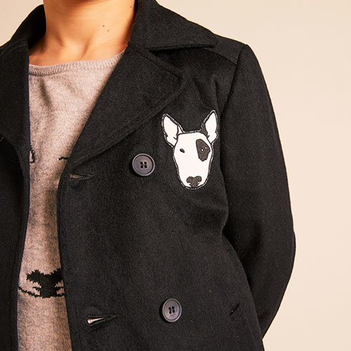 Wild & Gorgeous Mod Pea Coat Navy (Jas)-7