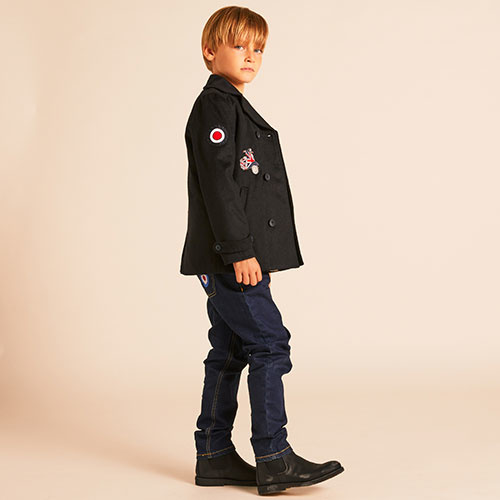 Wild & Gorgeous Mod Pea Coat Navy (Jas)-5