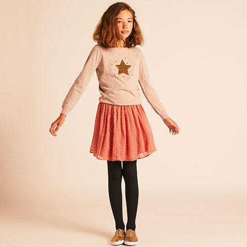 Wild & Gorgeous Star Skirt Dusty Pink (Rok)-4