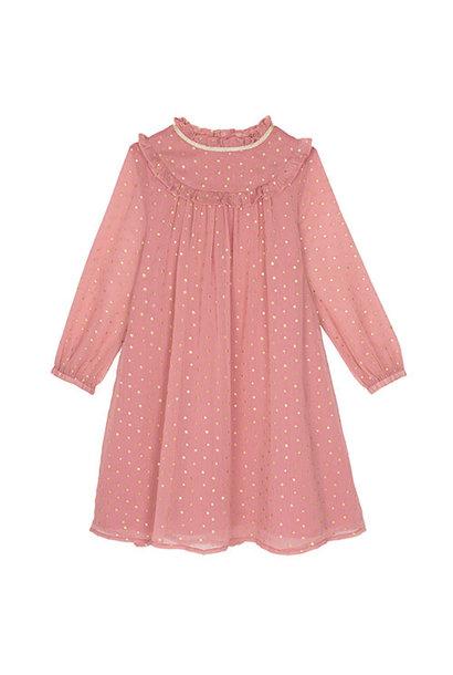 Wild & Gorgeous Winter Crush Dress Dusty Pink (Jurk)