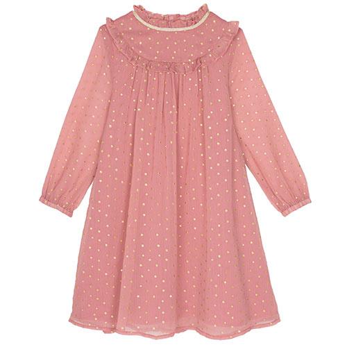 Wild & Gorgeous Winter Crush Dress Dusty Pink (Jurk)-1