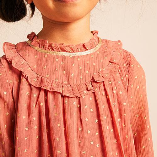 Wild & Gorgeous Winter Crush Dress Dusty Pink (Jurk)-3