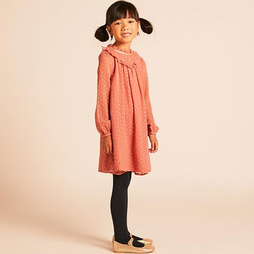 Wild & Gorgeous Winter Crush Dress Dusty Pink (Jurk)-2