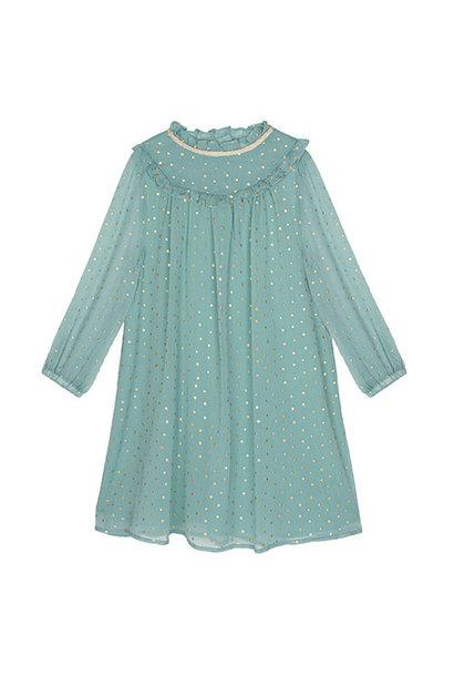 Wild & Gorgeous Winter Crush Dress Dusty Blue (Jurk)