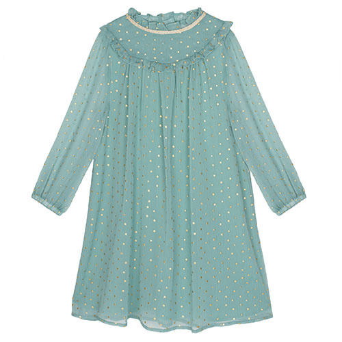 Wild & Gorgeous Winter Crush Dress Dusty Blue (Jurk)-1