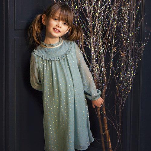 Wild & Gorgeous Winter Crush Dress Dusty Blue (Jurk)-3