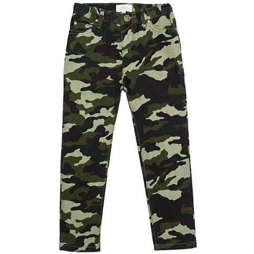 Wild & Gorgeous Skinny Camo Jeans Khaki (Broek)-1