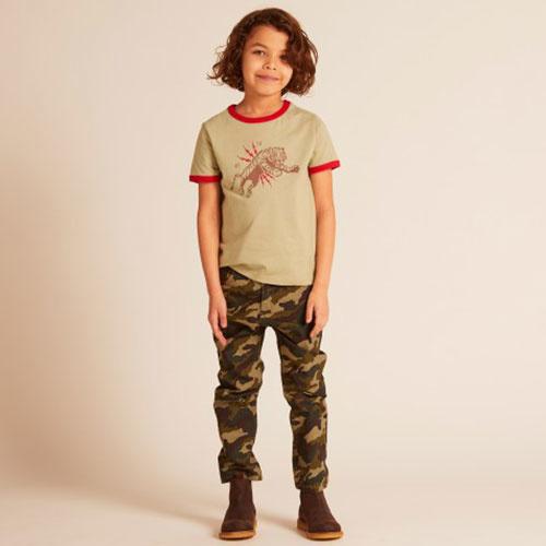 Wild & Gorgeous Skinny Camo Jeans Khaki (Broek)-2