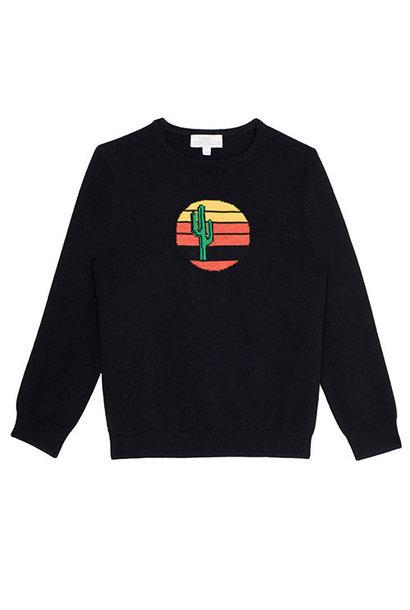 Wild & Gorgeous Cactus Sun Jumper Black (Trui)