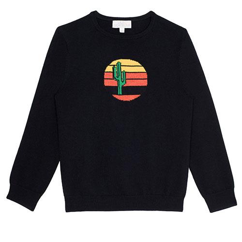 Wild & Gorgeous Cactus Sun Jumper Black (Trui)-1