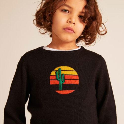 Wild & Gorgeous Cactus Sun Jumper Black (Trui)-4
