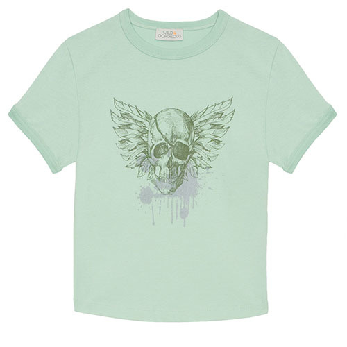Wild & Gorgeous Pirate Tee Aqua (t-shirt)-1