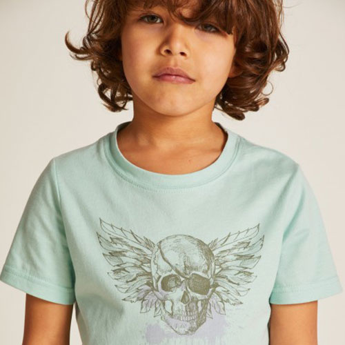 Wild & Gorgeous Pirate Tee Aqua (t-shirt)-2